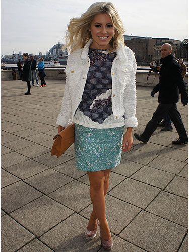 <p>This lady needs no introduction, it's Mollie from The Saturdays - we love Mollie! Doesn't she look amazing in her Michael van der Ham ensemble? She was actually on her way in to his show, coincidence? We think not</p>