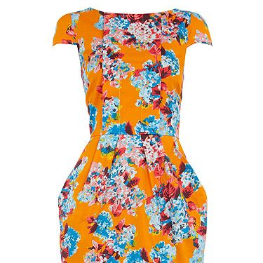 """<p>Whilst the weather mightn't be tropical, the print on this lovely lantern dress sure is! The ideal starter shape before trying out this season's peplum, we can't wait to rock this fun frock!</p><p>Multi floral pleat dress, £42, <a title=""""Dorothy Perkins"""" href=""""http://www.dorothyperkins.com/webapp/wcs/stores/servlet/ProductDisplay?beginIndex=0&viewAllFlag=&catalogId=33053&storeId=12552&productId=4733428"""" target=""""_blank"""">Dorothy Perkins</a></p><p> </p>"""