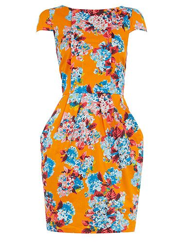 """<p>Whilst the weather mightn't be tropical, the print on this lovely lantern dress sure is! The ideal starter shape before trying out this season's peplum, we can't wait to rock this fun frock!</p> <p>Multi floral pleat dress, £42, <a title=""""Dorothy Perkins"""" href=""""http://www.dorothyperkins.com/webapp/wcs/stores/servlet/ProductDisplay?beginIndex=0&viewAllFlag=&catalogId=33053&storeId=12552&productId=4733428"""" target=""""_blank"""">Dorothy Perkins</a></p> <p> </p>"""
