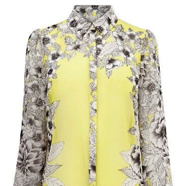 """<p>This digi-print floral blouse by Warehouse is so hip it hurts. It's the perfect top for spring - just add a crisp blazer and heels.</p><p>Mirrored floral blouse, £45, <a title=""""Warehouse"""" href=""""http://www.warehouse.co.uk/mirrored-floral-blouse/New-In-All/warehouse/fcp-product/307963"""" target=""""_blank"""">Warehouse</a></p>"""