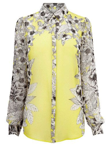 """<p>This digi-print floral blouse by Warehouse is so hip it hurts. It's the perfect top for spring - just add a crisp blazer and heels.</p> <p>Mirrored floral blouse, £45, <a title=""""Warehouse"""" href=""""http://www.warehouse.co.uk/mirrored-floral-blouse/New-In-All/warehouse/fcp-product/307963"""" target=""""_blank"""">Warehouse</a></p>"""