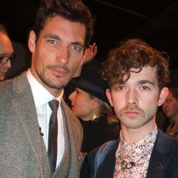 <p>The day was all about David Gandy. Maybe his newly single status made him even more attractive on the eye, as everyone wanted a photo with the dashing D&G man</p>