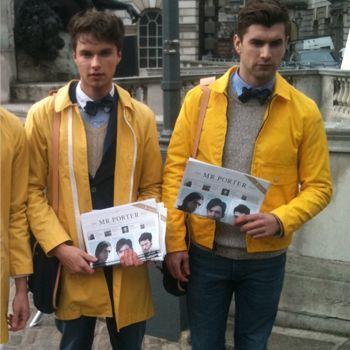 <p>Mr Porter brought out their stylish squad to dish out news to the fashion hungry crowd. We were also hungry for their perfect appearance!</p>