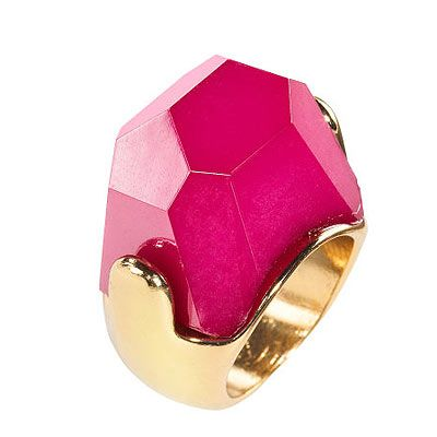 "<p>This gorge cocktail ring in punchy pink will add kapow to any outfit and earn you top style points. Love.</p> <p>Pink cocktail ring, £3.99, <a title=""H&M"" href=""http://www.hm.com/gb/product/98458?article=98458-B"" target=""_blank"">H&M</a></p>"