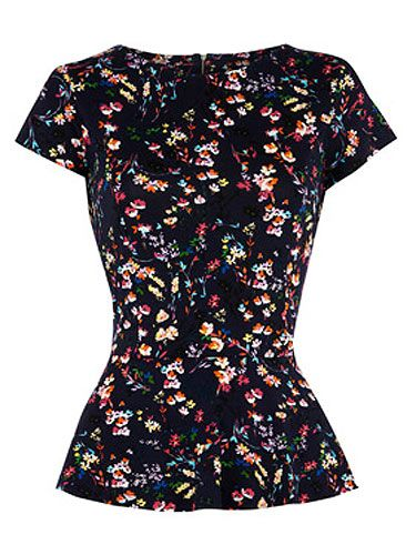 "<p>If you're talking about cost per wear, this fab floral print peplum top totally cuts the fashion mustard. Wear with jeans and ballet flats for a cute off-duty look, or amp things up a notch with a pencil skirt and sky-scraper heels by night.</p> <p>Floral peplum top, £25, <a title=""Warehouse"" href=""http://www.warehouse.co.uk/fcp/product/fashion/casual-tops/floral%20peplum%20top/308469"" target=""_blank"">Warehouse</a></p>"