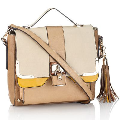 """<p>Accessorize has launched a new collection of premium luxe bags, inspired by traditional satchels and chic ladylike totes for a grown arm candy. Sharp designer-inspired styling makes piece stand out from the crowd.</p><p>Tassel structure stachel, £55, <a title=""""Accessorize"""" href=""""http://www.accessorize.com/en/restofworld/kensington-satchel/invt/18939622/"""" target=""""_blank"""">Accessorize</a></p>"""