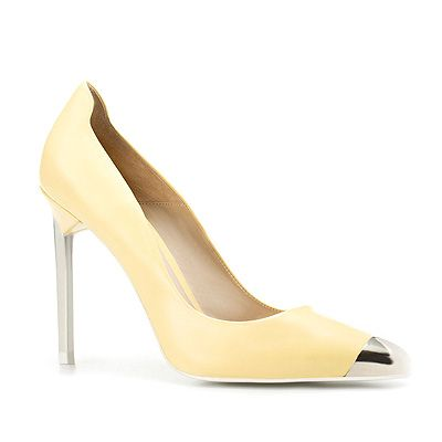 "<p>Trust Zara to get it right with this zingy pair of points in mellow yellow. So LV it hurts!</p> <p>Yellow court shoe, £69.99, <a title=""Zara.com"" href=""http://www.zara.com/webapp/wcs/stores/servlet/product/uk/en/zara-S2012/190053/721039/COURT%2BSHOW%2BWITH%2BMETAL%2BTOE%2BCAP"" target=""_blank"">Zara.com</a></p> <p> </p>"