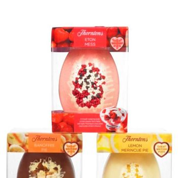 """<p>It's Easter this weekend, which means you're given full right to eat as much chocolate as you see fit. At Cosmo HQ, we're loving the new range of Thorntons Great British Puds Easter eggs. <br /><br />Inspired by the nation's favourite desserts, Britain's best-loved chocolatier has created these beautiful eggs, packed with real pieces of fruit to give the authentic flavour and texture of these famous British desserts. <br /><br />Spoil someone rotten this Easter and choose from the mouth-watering Lemon Meringue Pie Egg, Eton Mess Egg or Banoffee Pie Egg.<br /><br />For more info, visit the <a href=""""http://www.thorntons.co.uk/"""" target=""""_blank"""">Thorntons website. </a></p>"""