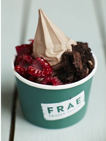 "<p>Get a 100% fat free treat at <a href=""http://www.frae.co.uk/"">Frae</a> in the 5th Floor Food Hall at Harvey Nichols.</p> <p>We love Frae's guilt free frozen yoghurt treats, especially topped with berries, nuts and chocolate brownie – yum.</p>"
