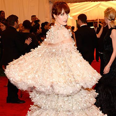 <p>What a year it's been for Florence Welch, she's become the darling of the fashion pack and now she's wearing a Sarah Burton creation at the Met Ball Gala - she must want to pinch herself</p>