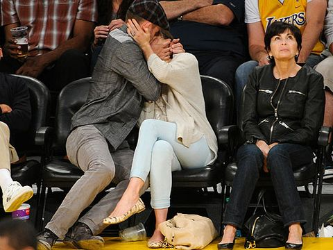 <p>Woah guys, we know you're getting married soon but this ain't your honeymoon. Justin Timberlake shows his soon-to-be bride what it's like to have a proper courtside smooch</p>