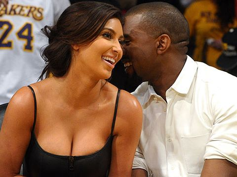 <p>Ahh Kimye, our new favourite couple. They didn't actually lock lips as they watched the basketball game, but you know they did as soon as they got home</p>