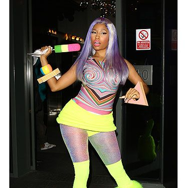 <p>So many colours, so little time... Nicki Minaj's solution is to wear all of them at once! Working the neon trend to the max, it's the psychedelic-print top that caught our eye first. Followed by the furry legwarmers. And the faux ice lolly... </p><p><strong>CAN'T GET ENOUGH NICKI MINAJ? CHECK OUT YOUR LATEST COPY OF COSMO ON CAMPUS</strong>, <strong>AVAILABLE NOW!</strong></p>
