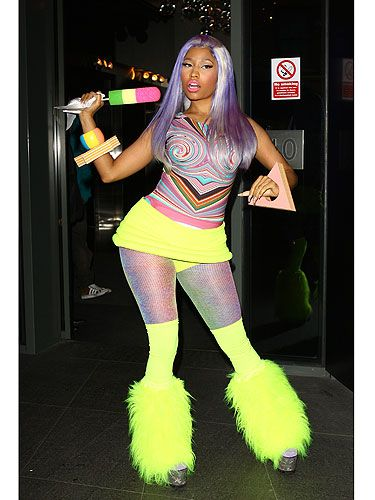 <p>So many colours, so little time... Nicki Minaj's solution is to wear all of them at once! Working the neon trend to the max, it's the psychedelic-print top that caught our eye first. Followed by the furry legwarmers. And the faux ice lolly... </p> <p><strong>CAN'T GET ENOUGH NICKI MINAJ? CHECK OUT YOUR LATEST COPY OF COSMO ON CAMPUS</strong>, <strong>AVAILABLE NOW!</strong></p>