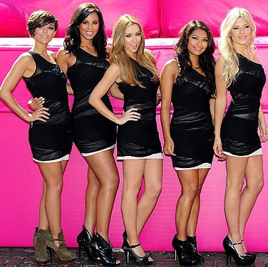 The Saturdays wowed at the T-Mobile Big Sofa back in June 2010 with matching LBDs&#x3B; we love how they kept their look simple, classic and oh-so-elegant