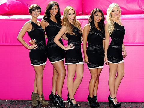 The Saturdays wowed at the T-Mobile Big Sofa back in June 2010 with matching LBDs; we love how they kept their look simple, classic and oh-so-elegant