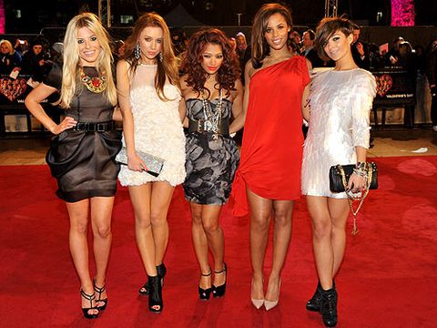 <p>The Saturdays mixed romance with their own unique style when they hit the red carpet for the Valentine's Day premiere in February 2010. Mollie opted for a tulip-skirt LBD, Una for white ruffles, Vanessa for a silver bandeau, Rochelle for high-glamour red and Frankie for a fun and funky silver tunic. It's hard to pick a favourite, isn't it? </p>