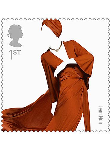 <p>Oh my goodness! This little lovely has got us hankering after a 70s revival - just check out this Jean Muir fluid rust gown with its late 1970s matching turban. Too gorgeous</p>