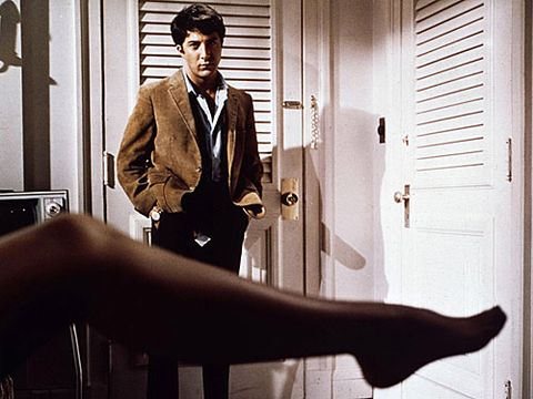 <p>Benjamin (Dustin Hoffman) is more than a little worried about his future. He's just graduated and returned home, where his parents have made it VERY clear that they expect big things from him now. We're not sure that, by big things, they intended for him to have an affair with Mrs Robinson, the wife of his father's business partner AND the mother of Elaine, the love of his life but hey, who are we to judge? There's nothing we enjoy more than an old classic, not to mention a really juicy love triangle!</p>