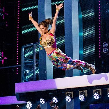 <p>Don't pretend that you weren't surprised when Cheryl Cole stage dived from the balcony on to The Voice stage - we know you were! Thank god she trusts those backing dancers...</p>