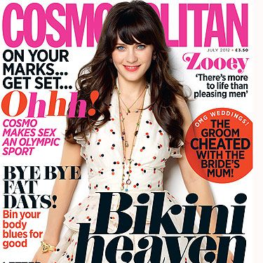 <p>Actress Zooey Deschanel talks about girl power, why there's more to life then pleasing men and her love of PJs on page 52 of this month's Cosmo</p>