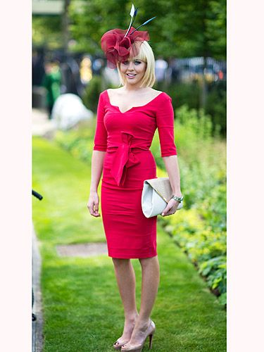 <p>TOWIE favourite, Lydia Bright looked ravishing in red at the Royal Ascot. Following the 'new rules', Lydia looked sensational. Her dress was below the knee, and her headpiece worked perfectly with the rest of the look - go Lydia. And check out those nude Louboutin shoes. WANT<br /><br /></p>