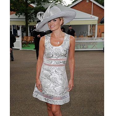 <p>Ah poor Katherine Jenkins, she chose to go to Ascot races on the day of drizzle and rain - bad times! But we quite like her saucy dress, not sure it abides by the rules though. We're positive it said something about no midriff showing, and what's are we seeing Kath? A glimpse of toned torso. that's what</p>