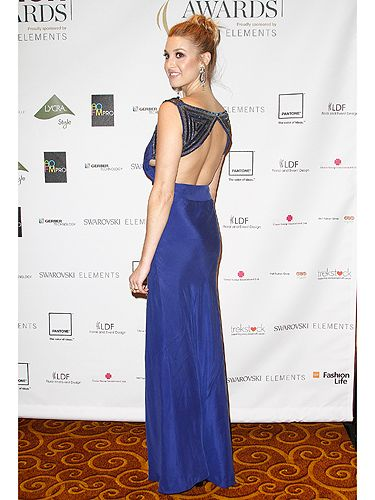 <p>Whitney Port looked every inch a total A-Lister when she showed off her enviable figure in this gorgeous royal blue gown. We loved how she scooped up her long blonde locks into an elegant up-do and let the embellished backless number do all the talking for her...</p>