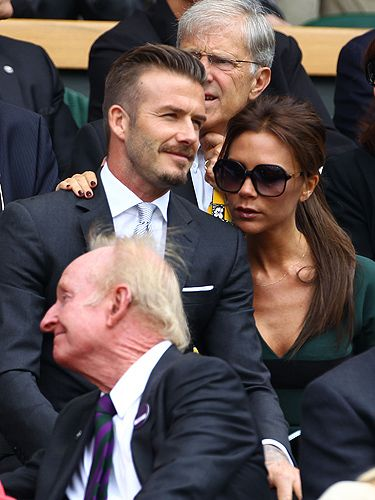 David and Victoria Beckham sum up everything there is to say about British sport and fashion combined, so it makes sense that the power couple showed up for Andy Murray's epic match against Roger Federer. Victoria definitely seemed more interested in gazing at her husband than the game on court but, when her hubby looks THIS good, who can blame her?