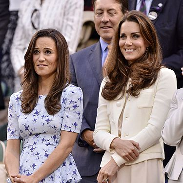<p>The oh-so-fashionable Middleton sisters took to Centre Court to see Andy Murray and Roger Federer slog it out on the court, keeping up in the style stakes with those gorgeous summer dresses. Pippa showed off her enviable waist in a powder blue peplum number from Project D, Dannii Minogue's label, while Kate donned a cream shift dress from Phoebe. They're both fashion princesses, aren't they?</p>