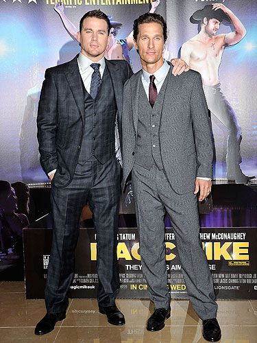 <p>It was two hunks for the price of one when Matthew McConaughey, dressed to impress in Dolce and Gabbana, and Channing Tatum, stars of sizzling hot stripper film 'Magic Mike', posed together on the red carpet. There's a little something for everyone here, isn't there? We just don't know whether we want mature Matt's experience or Channing's rock hard pecs more...</p>