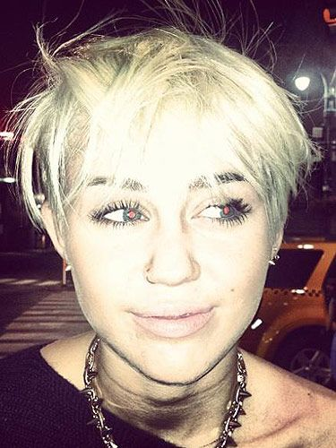 <p>Wowsers, Miley Cyrus has said 'buh-bye' to her long blonde locks, and said 'hello' to a new rock chick hairstyle. At first, we weren't sure - but now we're kind of loving it. Way to go Miley for having a little fun...</p>