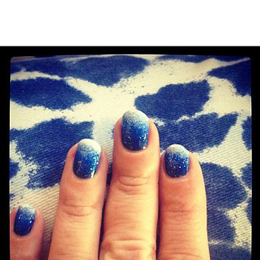 """<p>The perfect nails for spending a day in the clouds - a dreamy denim blue manicure for Web Editor Pat, by the ever so talented <a href=""""https://twitter.com/nailsbyMH"""" target=""""_blank"""">Michelle Humphrey</a></p>"""