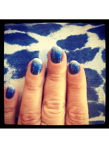 "<p>The perfect nails for spending a day in the clouds - a dreamy denim blue manicure for Web Editor Pat, by the ever so talented <a href=""https://twitter.com/nailsbyMH"" target=""_blank"">Michelle Humphrey</a></p>"