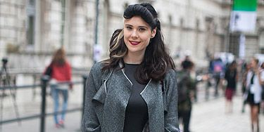 <p>Singer Kate Nash was spotted at the Somerset House wearing an awesome silk dress by her friend Andrew Majtenyi. Along with that Alice Palmer knit she rocked our street style look book at London Fashion Week.</p>