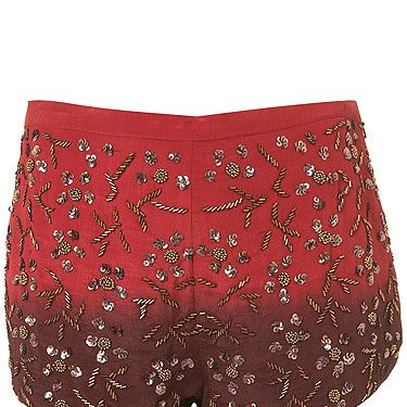 """<p>... is you need these shorts to brighten up your evening. With two trends in one, dip dye and embellished, these little beauties pack a mega fashion punch.</p><p>Dip dye embellished shorts, £48, <a href=""""http://www.topshop.com/webapp/wcs/stores/servlet/ProductDisplay?beginIndex=1&viewAllFlag=&catalogId=33057&storeId=12556&productId=6667769&langId=-1&sort_field=Relevance&categoryId=433136&parent_categoryId=208491&pageSize=20"""">Topshop</a></p>"""