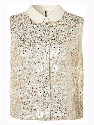 "<p>Oh, like a magpie we are drawn to anything glitzy and this gold number is no exception. Team with sequin shorts and heels.</p> <p>Sequin and flower shirt, £48, <a href=""http://www.topshop.com/webapp/wcs/stores/servlet/ProductDisplay?beginIndex=1&viewAllFlag=&catalogId=33057&storeId=12556&productId=6114551&langId=-1&sort_field=Relevance&categoryId=208524&parent_categoryId=203984&pageSize=20&refinements=category%7E%5B330497%7C208524%5D&noOfRefinements=1"">Topshop</a></p>"
