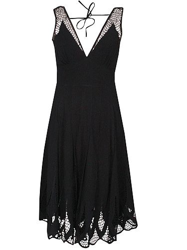 """<p>Pimp up the trusty LBD for Halloween with this frightfully nice cobwebby dress from Fashion Conscience. You'll bound to look bewitching in this!</p> <p>Komodo Zoe Fair Trade cut-out dress, £95, <a title=""""Fashion Conscience"""" href=""""http://www.fashion-conscience.com/zoe-fair-trade-cut-out-dress.html"""" target=""""_blank"""">FashionConscience.com</a></p>"""