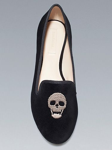 """<p>Step out in style ahead of Halloween with this rock 'n' rolling velvet skull slippers from Zara. In such soft shoes, you won't be going bump in the night (hopefully)...</p> <p>Skull slippers, £25.99, <a title=""""Zara"""" href=""""http://www.zara.com/webapp/wcs/stores/servlet/product/uk/en/zara-neu-W2012/269346/828190"""" target=""""_blank"""">Zara</a></p>"""