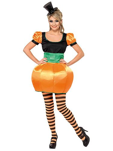 """<p>Too busy fitting in all those Halloween parties to carve a pumpkin? Be one instead. N'aww, who knew pumpkins could be so cute?!<br /><br />Pumpkin, £25.99, Smiffy's at <a href=""""http://www.acefancydress.co.uk/miss-pumpkin-sexy-halloween-outfit/products_id/10825/"""" target=""""_blank"""">Ace Fancy Dress</a></p>"""
