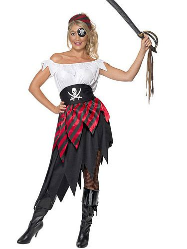 <p>Y'arrgh matey! You'd make the perfect wench for Captain Jack Sparrow in this little number.  <br /><br />