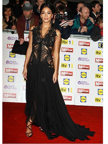 <p>For the Pride of Britain Awards, Nicole Scherzinger went for a stunning black dress with an elegant goth vibe. Her Giuseppe Zanotti shoes are so chic too - we want.</p>