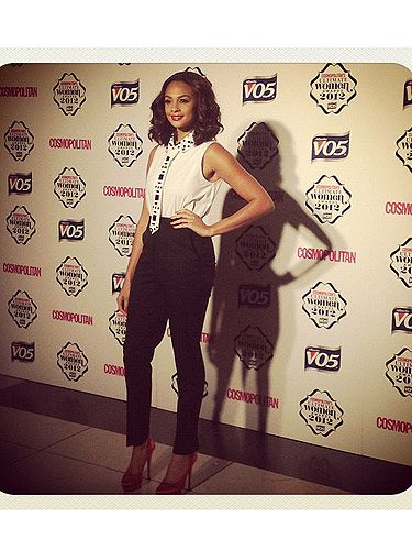 <p>Alesha Dixon was suited and booted for the Ultimate Women of the Year awards Awards. Wearing Stella McCartney trousers, a pair of fabulous Charlotte Olympia shoes and an a-maze Gerard Darel blouse. Love!</p>