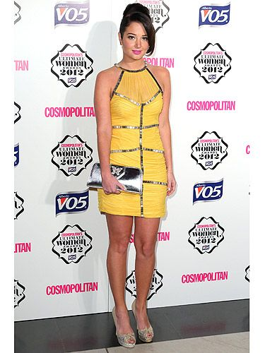<p>Tulisa looked fab in bright yellow for the Cosmo Ultimate Women of the Year Awards, sponsored by VO5. We love how she's mixed a metallic clutch with snakeskin peep-toes. Tulisa left with the Ultimate TV Personality gong. We do love her on X Factor.</p>