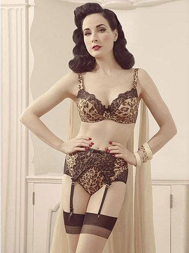 "<p>More vintage-inspired gorgeousness from Von Follies by Dita Von Teese, available from Debenhams.</p> <p>Unleash your animal instinct with this leoprad print lovely. Grrrr!</p> <p>Animal printed satin balconette bra, £30, <a title=""Von Follies by Dita Von Teese lingerie at Debenhams"" href=""http://www.debenhams.com/webapp/wcs/stores/servlet/prod_10001_10001_161010819573_-1?breadcrumb=Home~Lingerie"" target=""_blank"">Debenhams</a>.</p>"