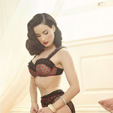 <p>Dita Von Teese launches her vintage-inspired underwear line Von Follies by Dita Von Teese in the UK today.</p>