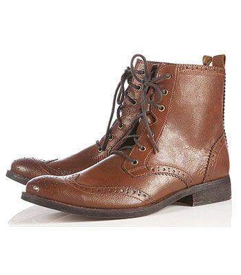 "<p>""Guys like shoes too! And boy boots are great for the winter and give me the masculine edge my girlfriend likes. A Reiss pair would be top of my list but Topman do some cheaper alternatives."" Justin, 25, Farnham</p> <p>Left: Brogue boots, £46, <a href=""http://www.topman.com/webapp/wcs/stores/servlet/ProductDisplay?beginIndex=1&viewAllFlag=&catalogId=33056&storeId=12555&productId=7451464&langId=-1&sort_field=Relevance&categoryId=207295&parent_categoryId=207282&pageSize=20"" target=""_blank"">topman.com</a></p>"