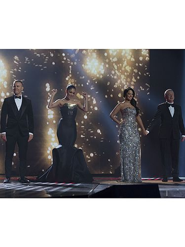 <p>It's been a busy few months for this fabulous four, but it's all over now for Gary Barlow (who was looking HOT last night), Louis Walsh, Tulisa Contostavlos and super judge Nicole Scherzinger. Pulling out all the stops in their dapper suits and sparkly frocks, the judges were on full form this weekend as they saw James Arthur crowned X Factor winner of 2012. Aw, we will miss that touch of sparkle to our Saturday night, bring on next year we say! <br /><br /></p>