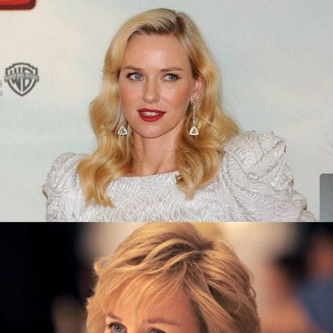 At first, we thought Naomi Watts had headed out to the hairdressers to get the iconic Princess Diana crop - but we have a sneaky suspicion, after staring at it good and hard, that this one might be a wig. Whaddaya reckon, Cosmonauts? Either way, there's no denying that Naomi is the spitting image of the late Princess of Wales.