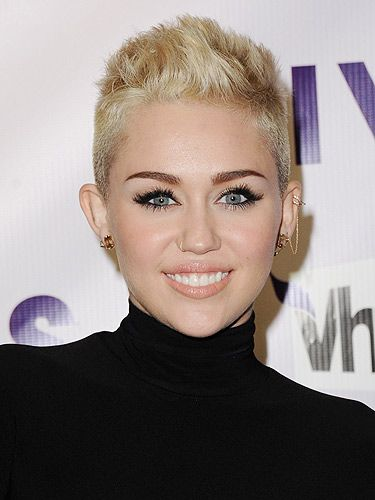 <p>It looks like singer Miley Cyrus has finally sealed her signature hairstyle. She arrived at the 2012 VH1 Divas in LA flaunting a very boyish short bouffant hairstyle that looked super fresh. She softened this edgy look with a lot of mascara and glossy peach lips, highlighting her best features.</p>